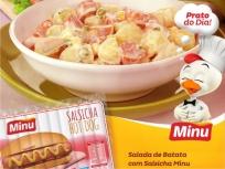 Salada de Batata com Salsicha Minu