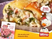 Pão de alho com Presunto Minu