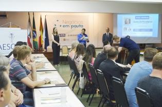 Diretora Presidente palestra no Sincovat - Foto 1