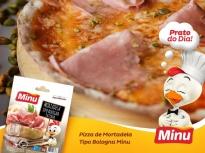 Pizza com Mortadela tipo Bologna